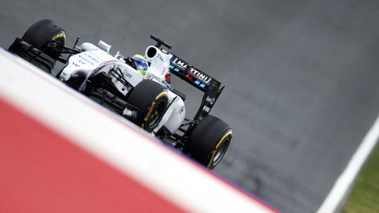 Felipe Massa (Williams-Mercedes) sur le toboggan autrichien de Spielberg (JOE KLAMAR / AFP)