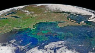 Image de la Nasa, publiée le 14 mai 2015, montrant une partie des Etats-Unis et du Canada depuis l'espace. (NASA / SIPA)