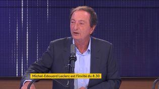 Michel-Edouard Leclerc, le 21 septembre sur franceinfo. (FRANCEINFO / RADIOFRANCE)
