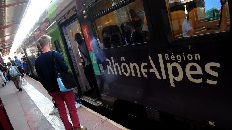 Un TER de la région Rhône-Alpes, à Saint-Etienne, le 1er juillet 2014. (MAXPPP)