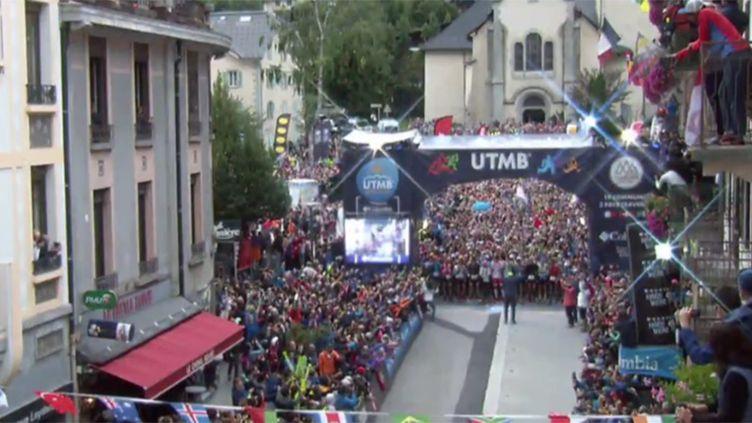 Le départ de la 15e édition de l'Ultra Trail du Mont-Blanc
