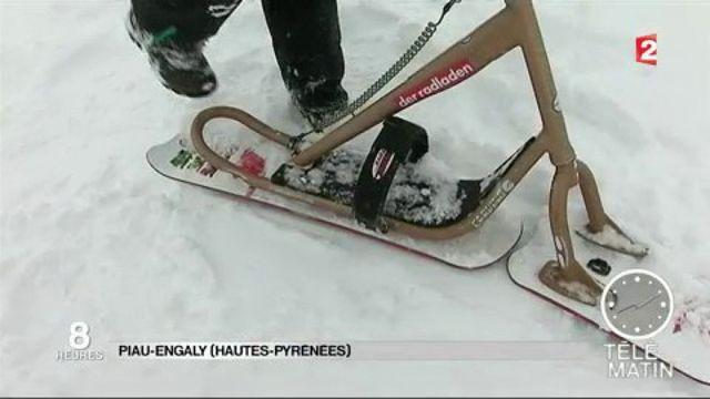 Le snowscoot a la cote sur les pistes de ski