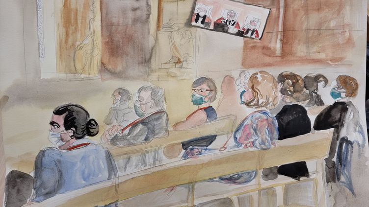 Des parties civiles au procès des attentats du 13-Novembre, le 10 septembre 2021. (ELISABETH DE POURQUERY / FRANCEINFO)