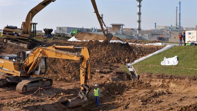 Centre de stockage de déchets nucléaires de la Manche en travaux. (AFP/MYCHELE DANIAU)