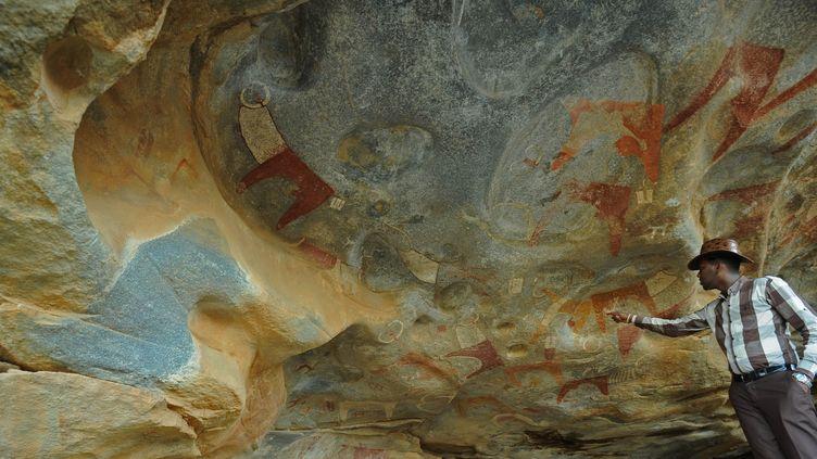 Les peintures rupestres de Laas Geel, dans la région autoproclamée Etat du Somaliland ne sont pas encore un site protégé.  (MOHAMED ABDIWAHAB / AFP)