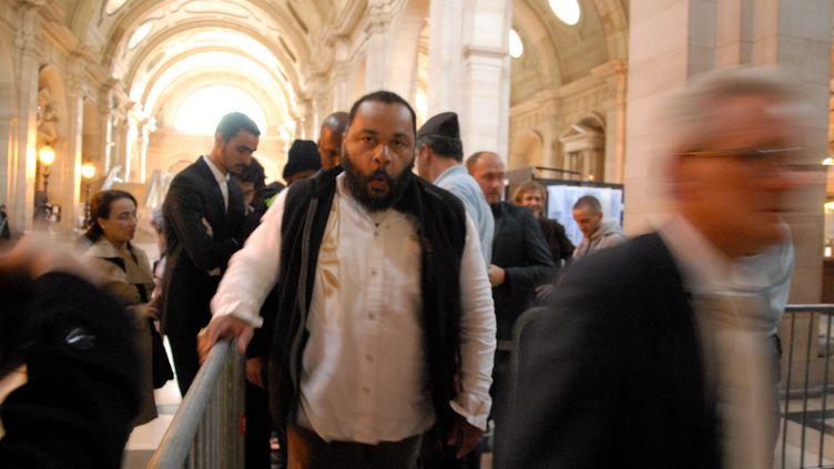 Dieudonné au palais de justice de Paris, le 18 juin 2014. (PATRICE PIERROT / CITIZENSIDE / AFP)