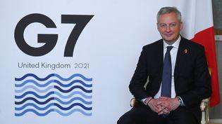 Le ministre de l'Économie et des Finances, Bruno Le Maire, lors du premier jour de la réunion des ministres des Finances du G7 à Lancaster House, à Londres, le 4 juin 2021. (DANIEL LEAL-OLIVAS / AFP)