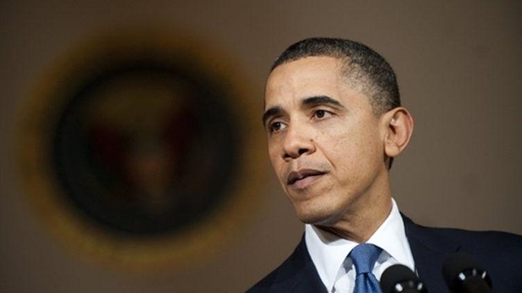 Le président américain Barack Obama s'exprime sur la situation en Libye depuis la Maison Blanche, le 23 février 2011. (AFP - Jim Watson)