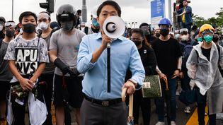Des manifestants àHong Kong, le 12 juin 2019. (JOSE LOPES AMARAL / NURPHOTO / AFP)