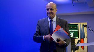 Le maire UMP de Bordeaux (Gironde) le 16 septembre 2014 lors d'une conférence de presse au siège de son parti à Paris. (KENZO TRIBOUILLARD / AFP)