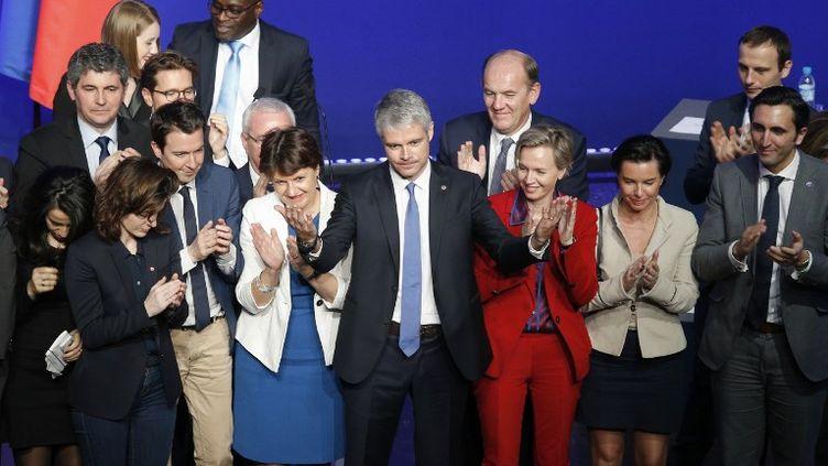 Laurent Wauquiez, le 27 janvier 2018, à Paris. (GEOFFROY VAN DER HASSELT / AFP)