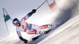 Alexis Pinturault, à l'occasion du géant de Sölden en octobre 2019, sa dernière victoire sur le tracé autrichien. (JOE KLAMAR / AFP)
