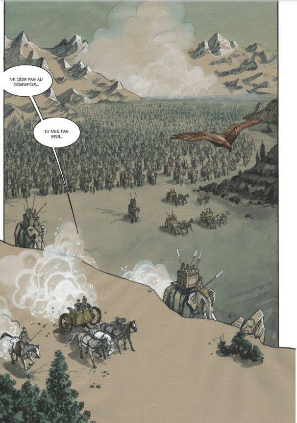 Une page du Mahârabhâta (Editions Hozhoni)