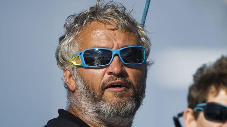 Le skipper suisse Yvan Bourgnon (JEAN-SEBASTIEN EVRARD / AFP)