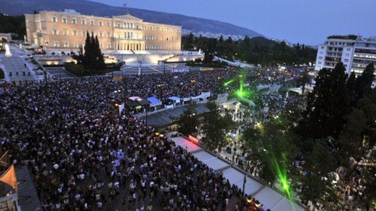 """Place Syntagma, les """"Indignés"""" grecs (AFP)"""