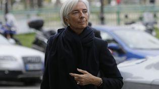 Christine Lagarde,directrice générale du Fonds monétaire international (FMI), lors de son arrivée à la Cour de justice de la République, à Paris, le 19 mars 2014. (KENZO TRIBOUILLARD / AFP)