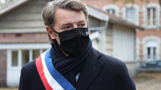 Le maire de Troyes (Aube) et président de l'AMF François Baroin à Troyes le 2 novembre 2020 (JEROME BRULEY / MAXPPP)