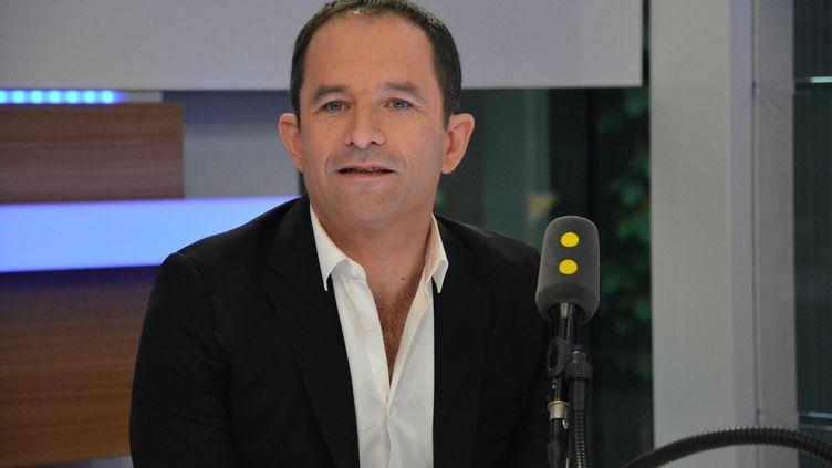 Benoit Hamon, Fondateur du Mouvement du 1er-juillet et ancien candidat PS à l'élection présidentielle. (RADIO FRANCE / JEAN-CHRISTOPHE BOURDILLAT)