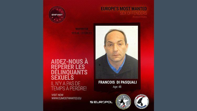 François Di Pasquali, un violeur recherché par Europol. (EUROPOL)