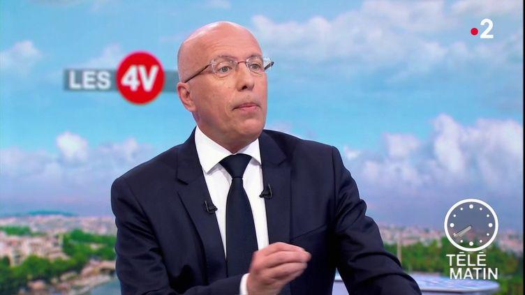 """Eric Ciotti sur le plateau des """"4 Vérités"""", sur France 2. (FRANCE 2)"""