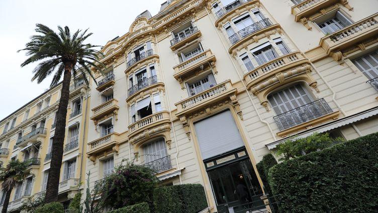 La résidence de Jacqueline Veyrac à Nice (Alpes-Maritimes), le 25 octobre 2016. (VALERY HACHE / AFP)