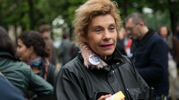 Virginie Tellenne, alias Frigide Barjot, le 4 mai 2015 à Paris, lors d'une manifestation. (MANNONE CADORET / CITIZENSIDE.COM / AFP)