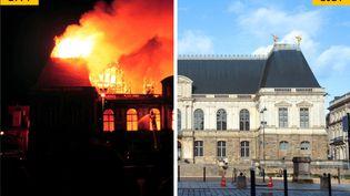 En 1994, le Parlement de Bretagne, situé à Rennes, a été ravagé par un incendie. (MAXPPP, AFP)