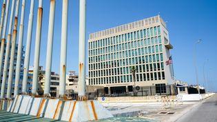 L'ambassade américaine à Cuba, le 21 juin 2018. (JENS KALAENE / ZB / AFP)