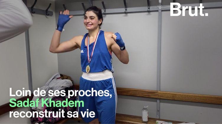 """VIDEO. """"Que vous soyez un homme ou une femme… Faites ce que vous voulez"""", lance la boxeuse iranienne Sadaf Khadem (BRUT)"""