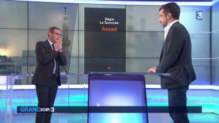 La couverture du livre Assad et son auteur Régis Le Sommier (France 3)