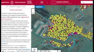Une carte qui montre Venise saturée par les structures d'hébergement (ENVOYÉ SPÉCIAL  / FRANCE 2)
