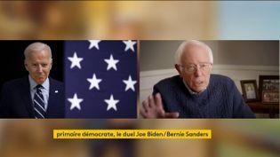 Joe Biden et Bernie Sanders (FRANCEINFO)