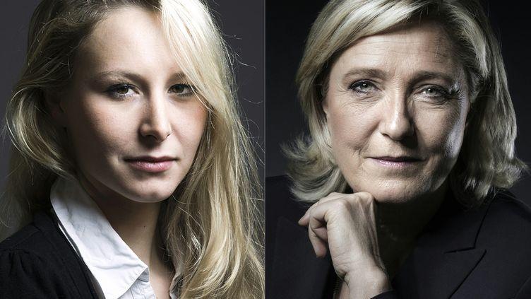 Marion Maréchal Le Pen et Marine Le Pen (photomontage). (JOEL SAGET / AFP)
