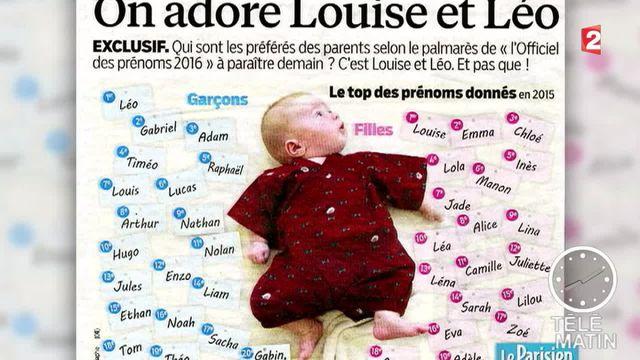 Louise et Léo, prénoms préférés des Français