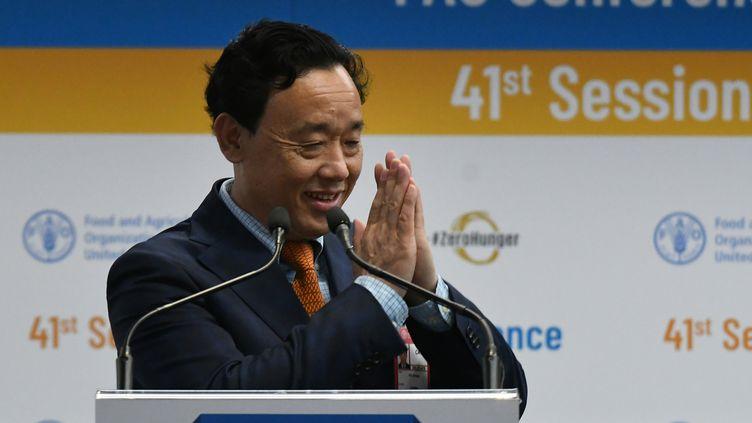 Le vice-ministreministre chinois de l'Agriculture Qu Dongyu vient d'être élu à la tête de la FAO (Food and Agriculture Organisation). Une organisation des Nations unies qui regroupe 184 pays. (VINCENZO PINTO / AFP)