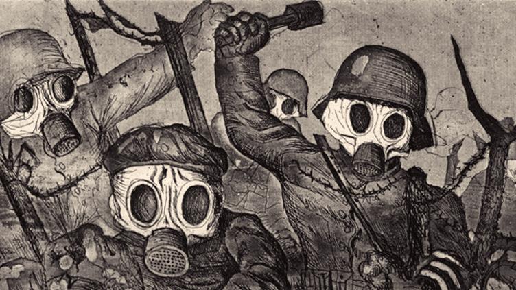 Eau-forte d'Otto Dix  (Coll. Ronny et Jessy Van de Velde, Anvers)