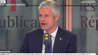 Le président Les Républicains (LR) du Conseil régional Auvergne-Rhône-Alpes, invité de franceinfo mercredi 13 septembre. (RADIO FRANCE / FRANCEINFO)