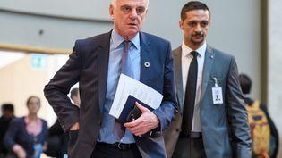 Le docteur britannique David Nabarro lors du congrès annuel de l'OMS à Genève (Suisse), le 22 mai 2017. (FABRICE COFFRINI / AFP)