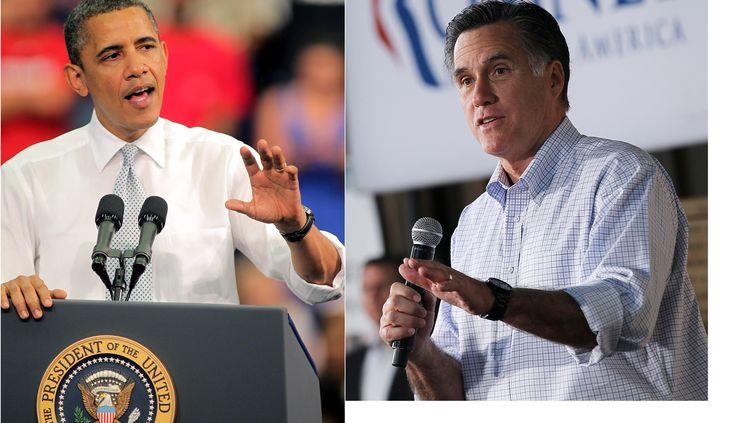 Barack Obama et Mitt Romney. (AFP / GETTY IMAGES / MONTAGE FTVI)