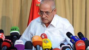 Houcine Abbassi, le secrétaire général du syndicat UGTT, une des parties prenantes du quartette récompensé par le Nobel de la paix. (FETHI BELAID / AFP)