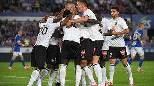 Le LOSC a ouvert le score à Strasbourg. (PATRICK HERTZOG / AFP)