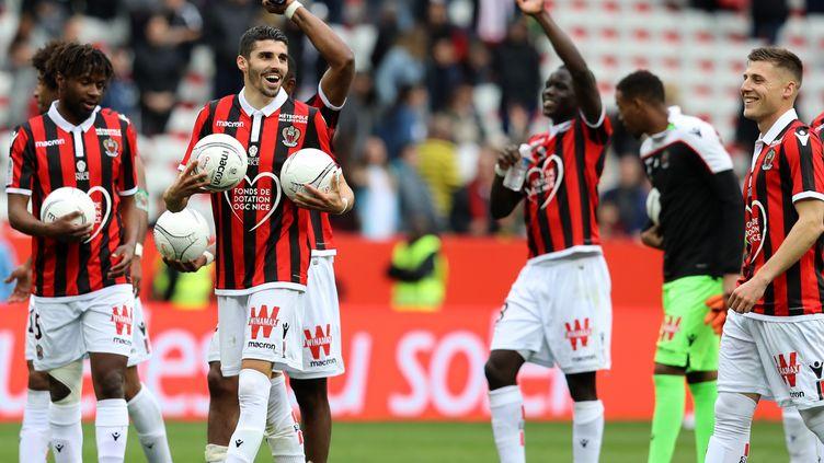 Nice, a fini par faire craquer Lens pour cette première journée de Ligue 1. (VALERY HACHE / AFP)