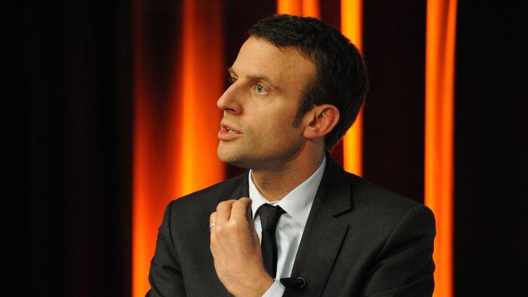 Emmanuel Macron, ministre de l'Economie, à Paris, le 13 avril 2016. (CITIZENSIDE/PATRICE PIERROT / CITIZENSIDE / AFP)