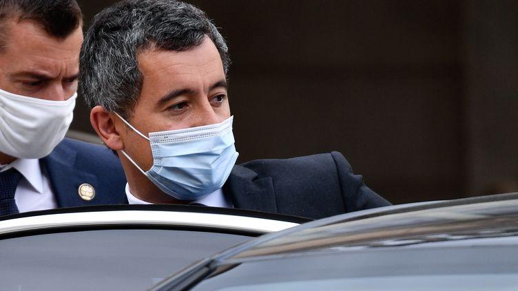 Gérald Darmanin, le ministre de l'Intérieur, à la sortie du Conseil des ministres le 23 septembre 2020. (JULIEN MATTIA / ANADOLU AGENCY)