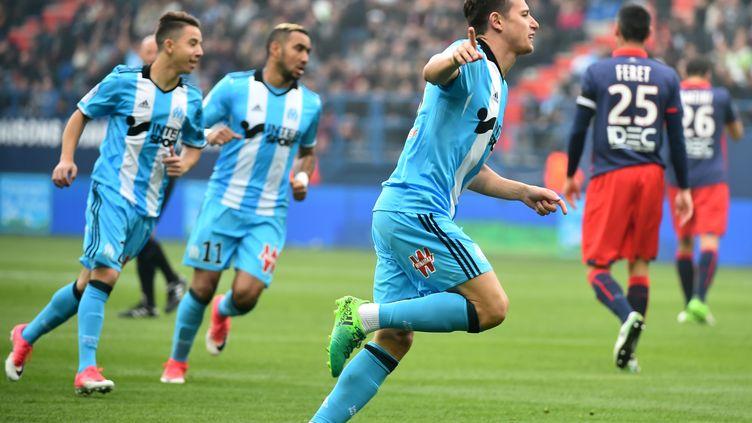 Florian Thauvin, auteur d'un triplé et homme du match (JEAN-FRANCOIS MONIER / AFP)