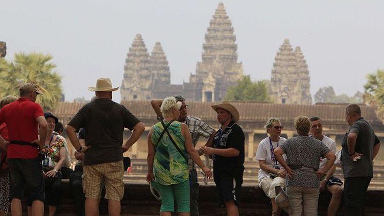 La détéroriration des temples d'Angkor au Cambodge s'accélère sous l'effet du tourisme  ( Heng Sinith/AP/SIPA)