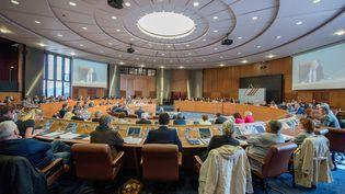 Le conseil départemental du Pas-de-Calais en séance plénière, le 23 avril 2015, à Arras. (MAXPPP)