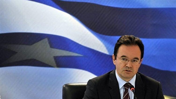Le ministre grec des Finances Georges Papaconstantinou (2 juin 2010) (AFP / Louisa Gouliamaki)