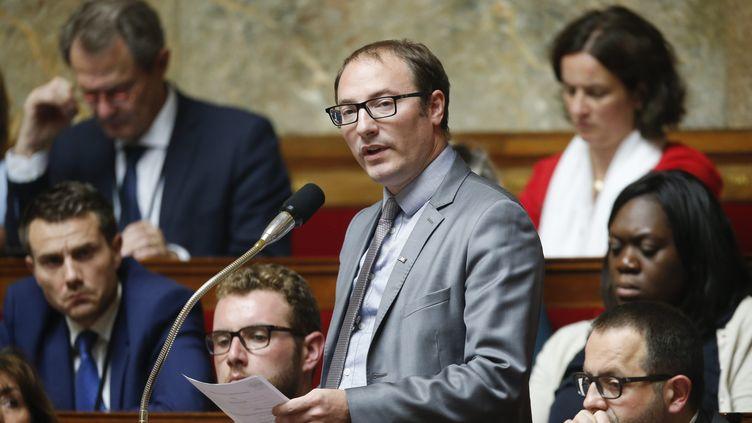 Denis Masséglia, deputé de Maine-et-Loire, àl'Assemblee Nationale, le 2 août 2017. (LEON TANGUY / MAXPPP)