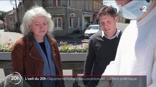 Départementales : des candidatures qui font polémique (FRANCE 2)